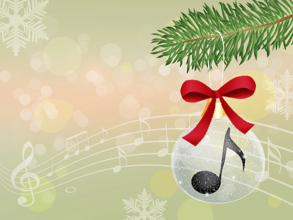 Image of Christmas Tree Decoration with music symbol